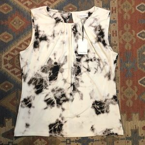 Calvin Klein Marbled Black and White Tank Top Lg